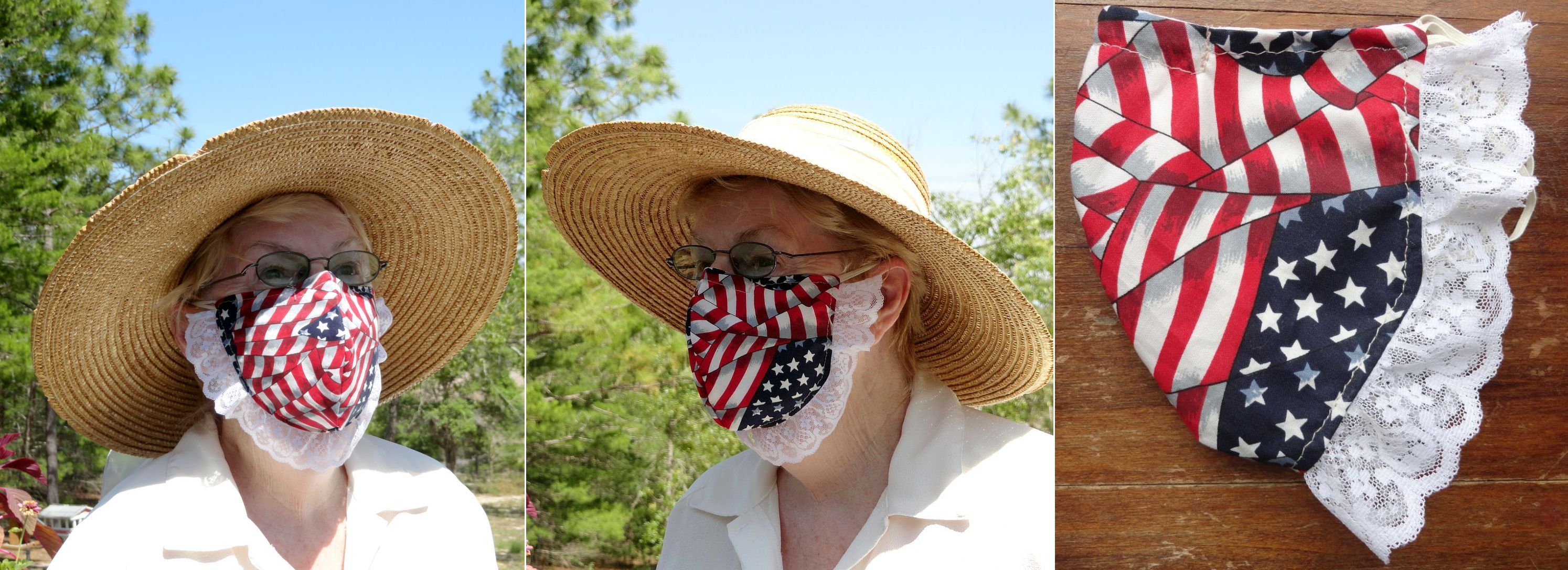 The Betsy Ross Mask, 3 views
